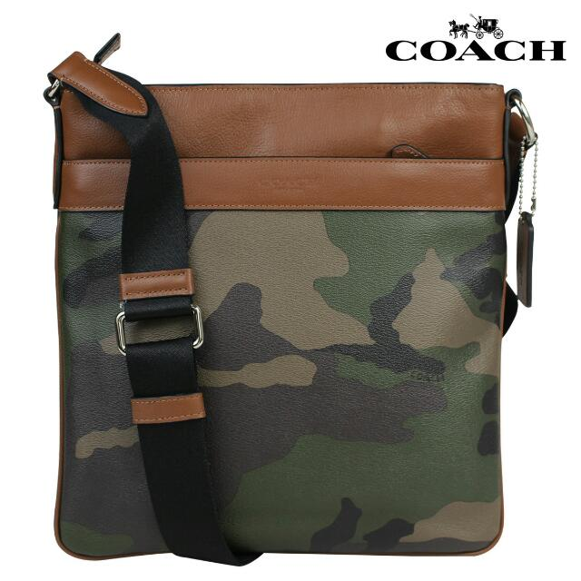 Authentic Coach Men s Crossbody Bag Messenger Green Camo Army ... 0bd55a45cb