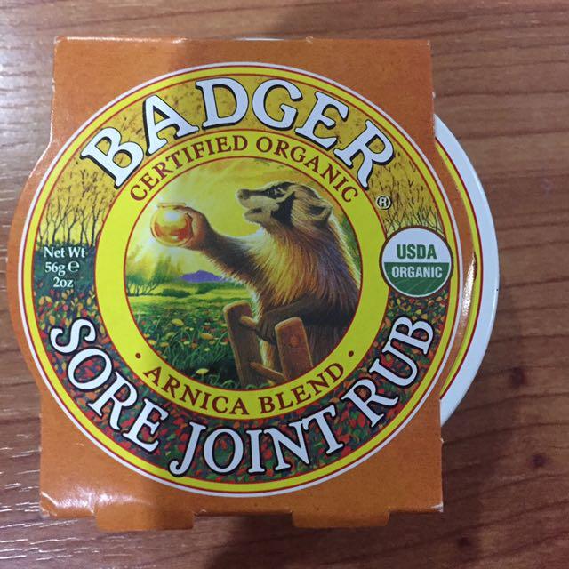 Badger sore joint rub