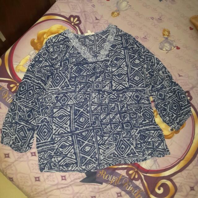 Baju batik bahan shifon ukuran M