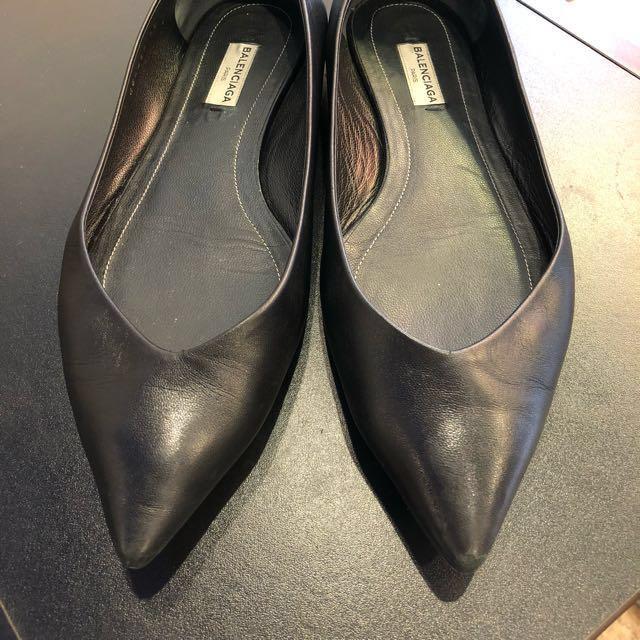 真品Balenciaga 黑色平底鞋尺寸39