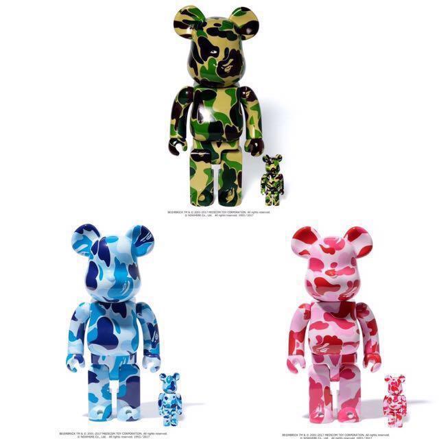 0d6a0e27 BAPE X BE@RBRICK ABC BE@RBRICK 100% & 400% SET, Toys & Games, Bricks &  Figurines on Carousell