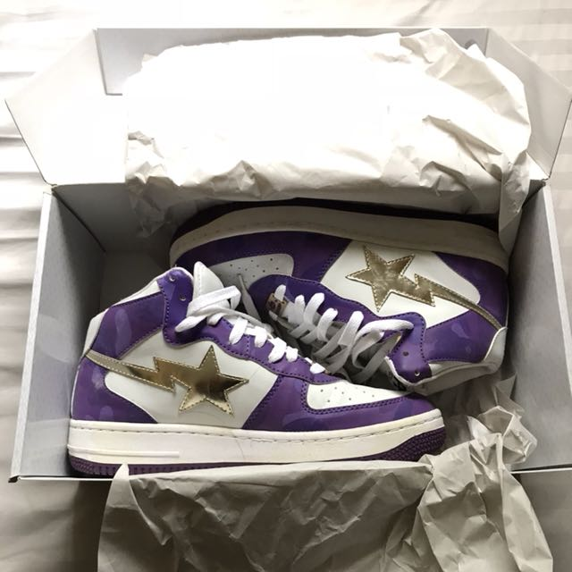 Bapesta Mid Purple Camo