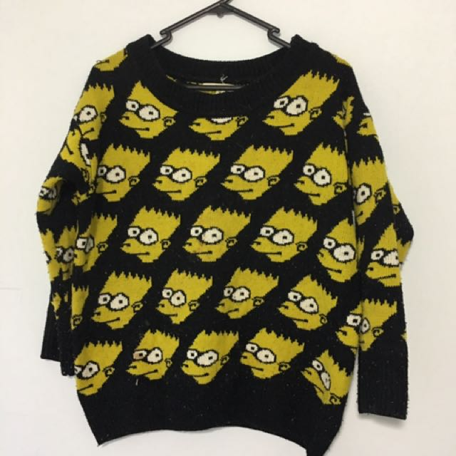 Bart Simpson Jumper Women S Fashion Clothes On Carousell