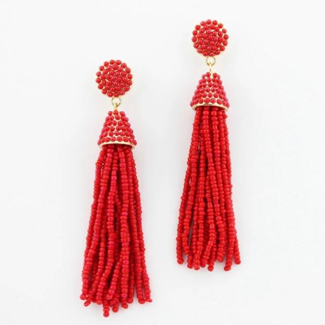 Beads Tassel Earrings
