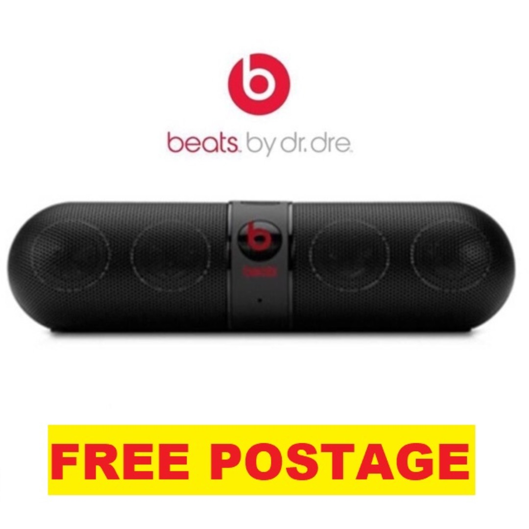 Beats Pill Wireless Bluetooth Aux FM SD Stereo Speaker with Bass