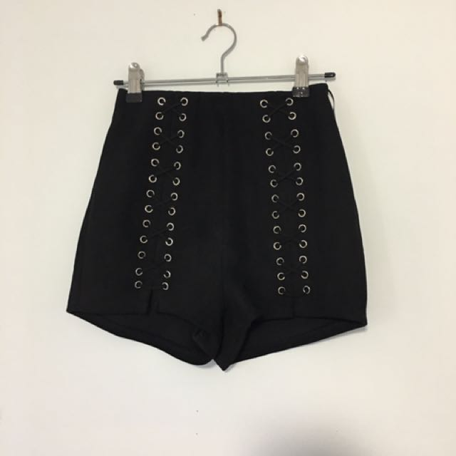 Black high wasted short