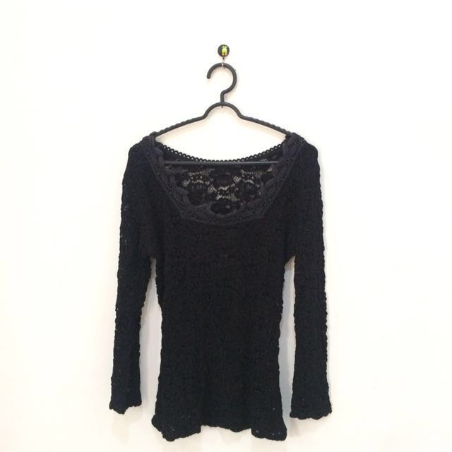 black knit / rajut / brukat
