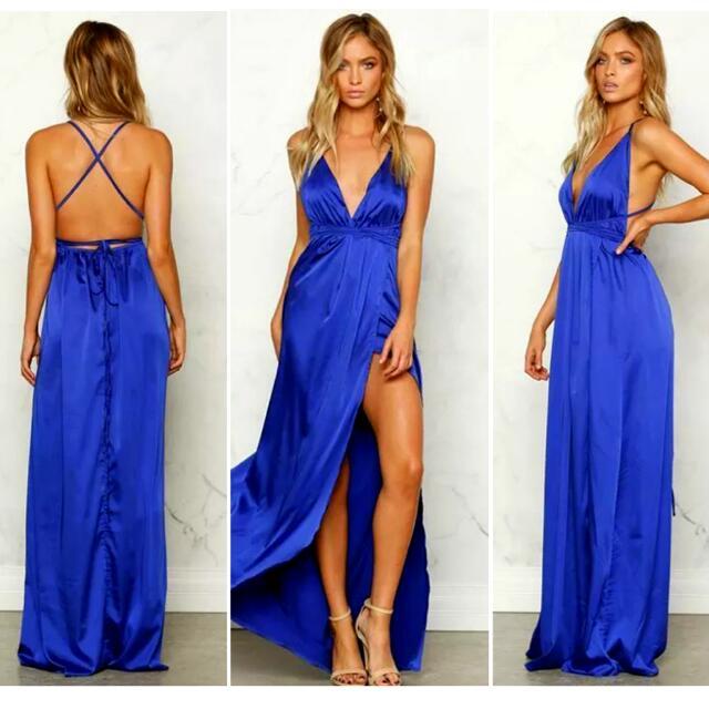 BNEW Satin maxi dress