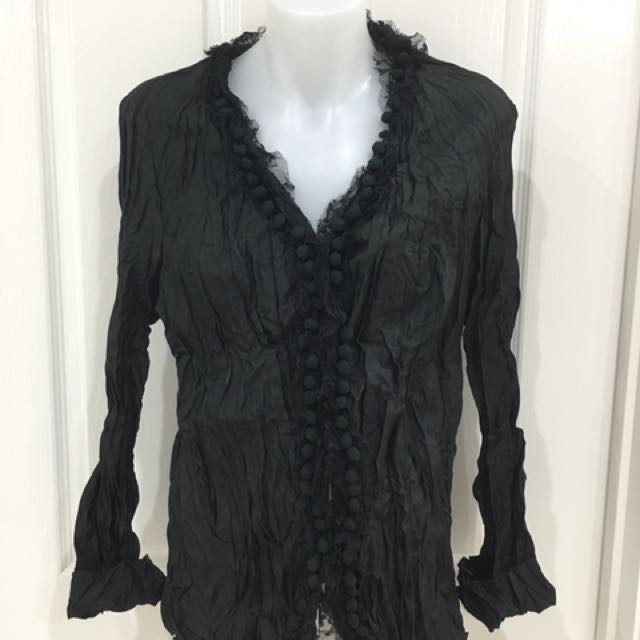 Brand new black long sleeve shirt Size 12