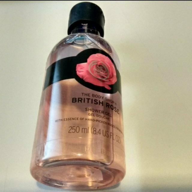 British rose shower gel