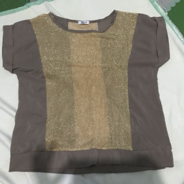 Brown Gold Blouse