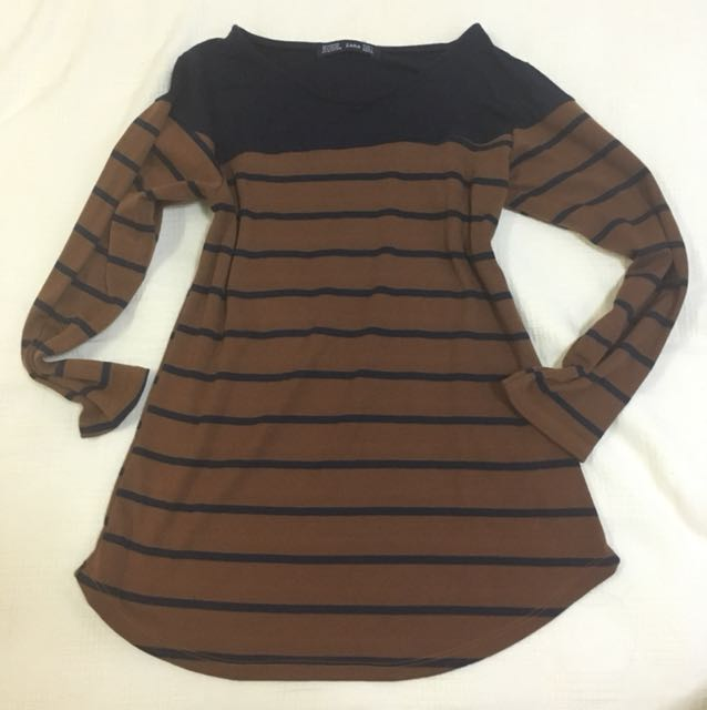 Brown-Blue Zara Stripes