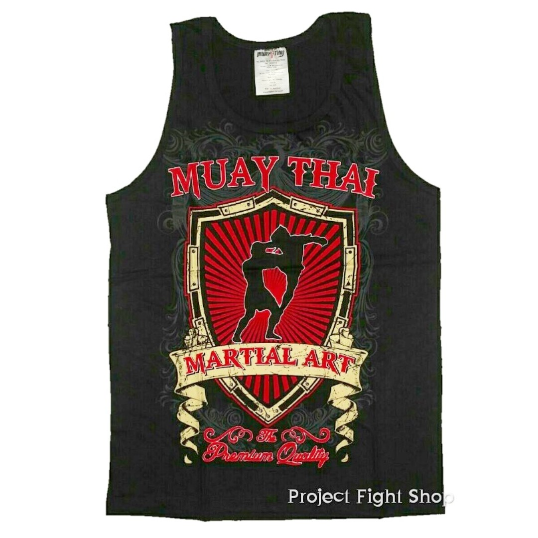 BTB Muay Thai Boxing MMA Training Tank Top Singlet Jersey, Sports, Sports Apparel on Carousell