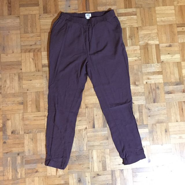 Burgundy Vero Moda Pants
