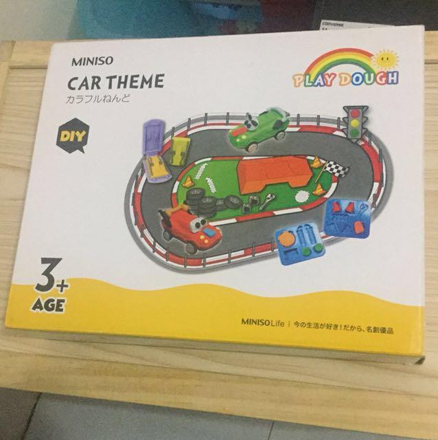 Car race play dough