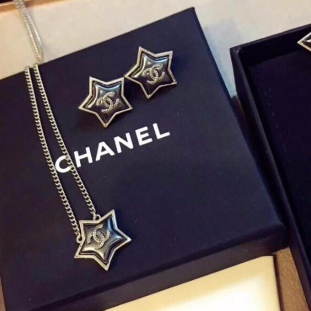 Chanel 專櫃同款五角星雙C項鍊