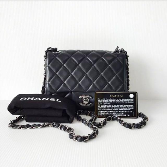 Chanel Mini Classic in Black Lambskin