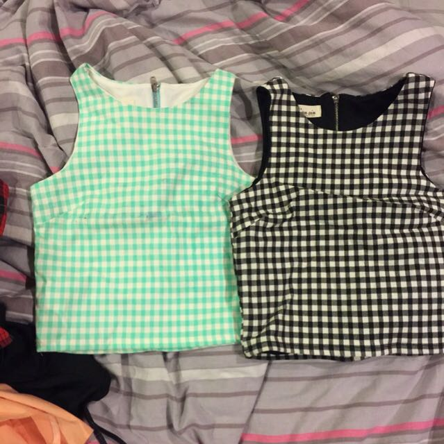 Checkers Crop Top