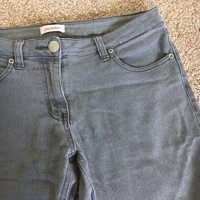 COCOLATTE Grey Jeans