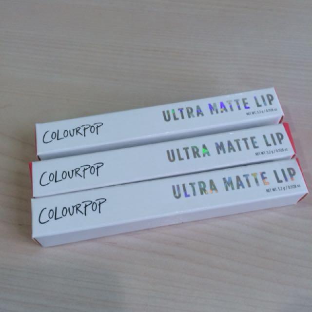 Colourpop Ultra Matte Lip [ LUMIÈRE 2 / FLURRIES /  TOP 8 ]