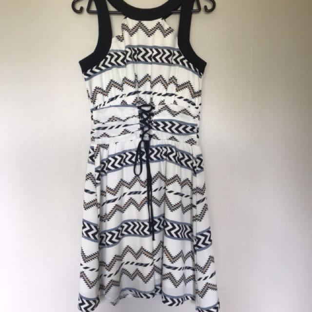 Corset Aztec Print Dress