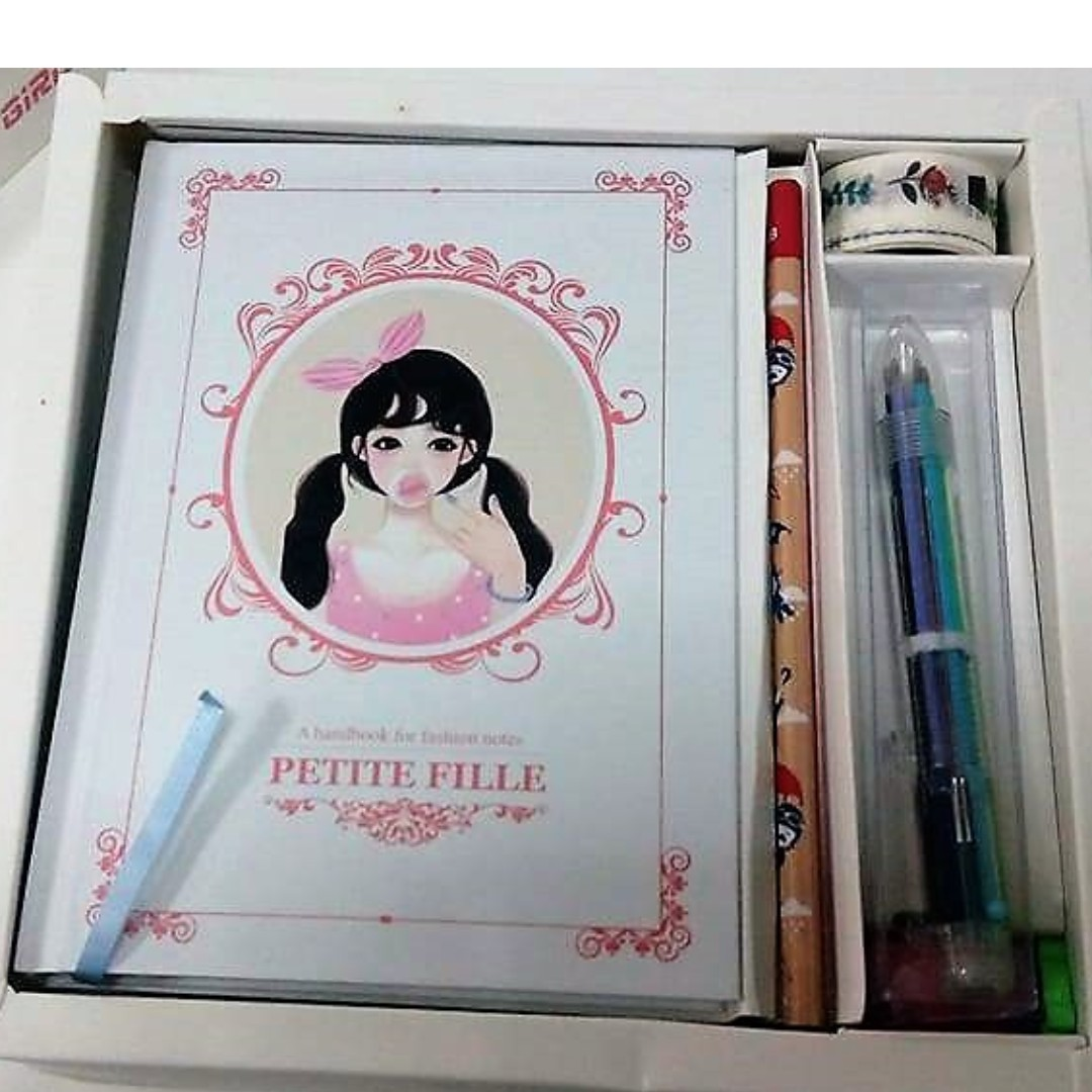 Cute Girl Petite File Korean Diary Yearly Planner Set