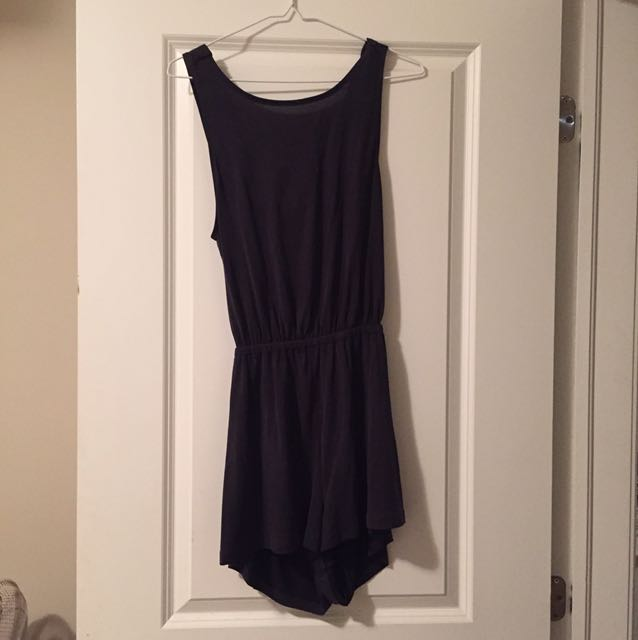 Dark Grey Urban Outfitters Romper Size Small