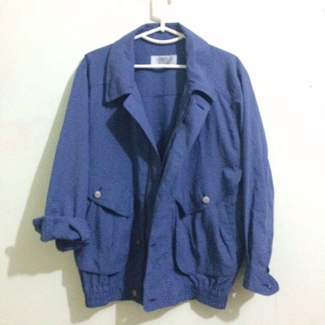 Denim Outer Simple Life