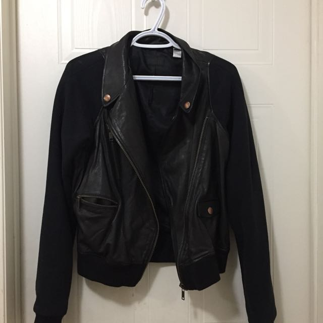 Diesel double breasted leather jacket