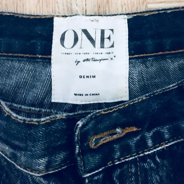 Distressed One Teaspoon Jeans. Woman's Size 28 Inseam 28''