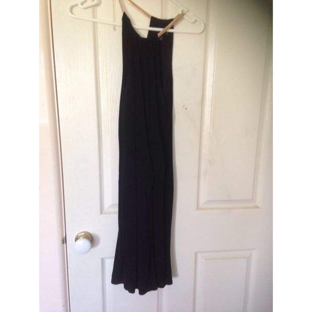 Forever New Black Dress With Gold Chained Neck Lining