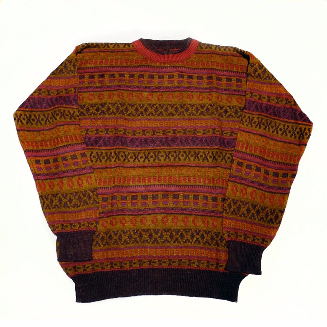 Fresh Loots / 古著 Vintage 義大利 立體條紋針織毛衣