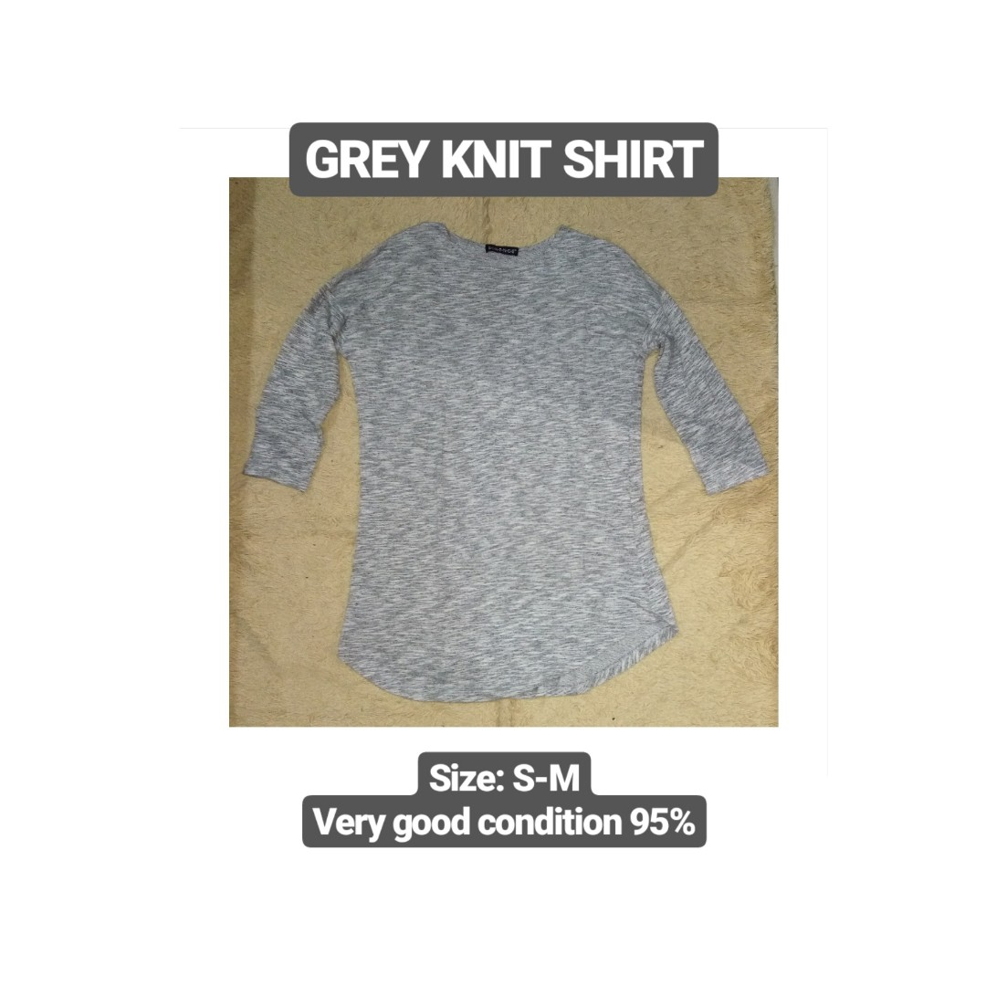 Grey Knit Shirt