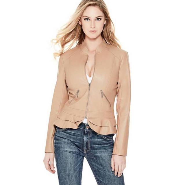Guess Kate Flirty Faux Leather Jacket