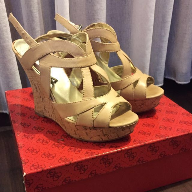 Guess Wedges Genuine Leather