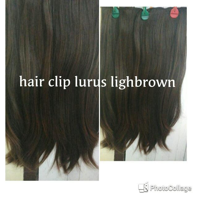 Hair Clip Lurus Lighbrown