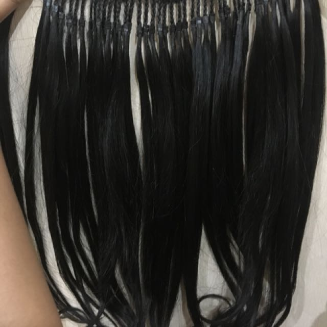 "Hairclip rambut asli yahh..Baru 1x ""pake alasan jual dah panjang rambut"