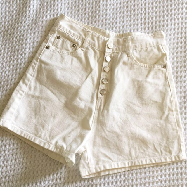 High Waisted White Denim.