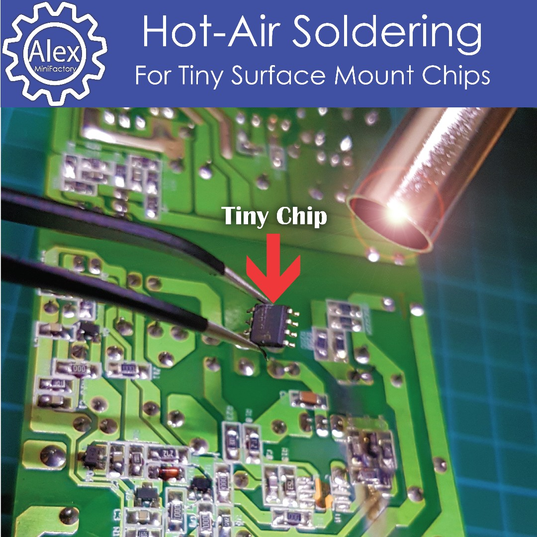 Hot Air Soldering Service Part 4 Smd Smt Surface Mounted Green Electrical Circuit Board With Microchips And Transistors Stock Chips Repair Electronics Others On Carousell