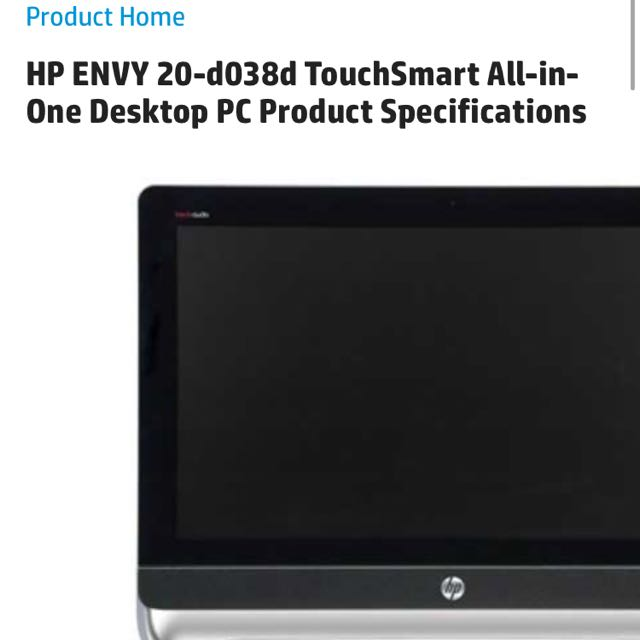 HP ALL IN ONE TOUCH BEATS AUDIO, Electronics, Computers on