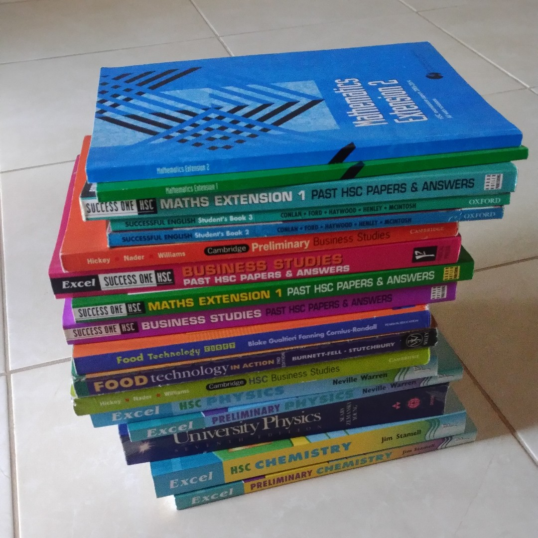 HSC & Preliminary Maths, Chemistry, Physics & Business Studies textbooks