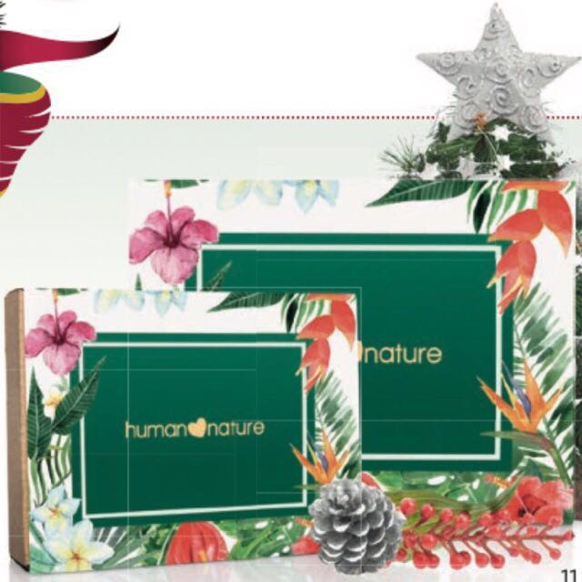 Human Nature Christmas Box with FREE voucher