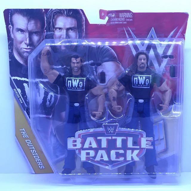 WWE MATTEL OUTSIDERS HALL-N-NASH NWO FIGURES SEALED IN ORIGINAL PACKAGE