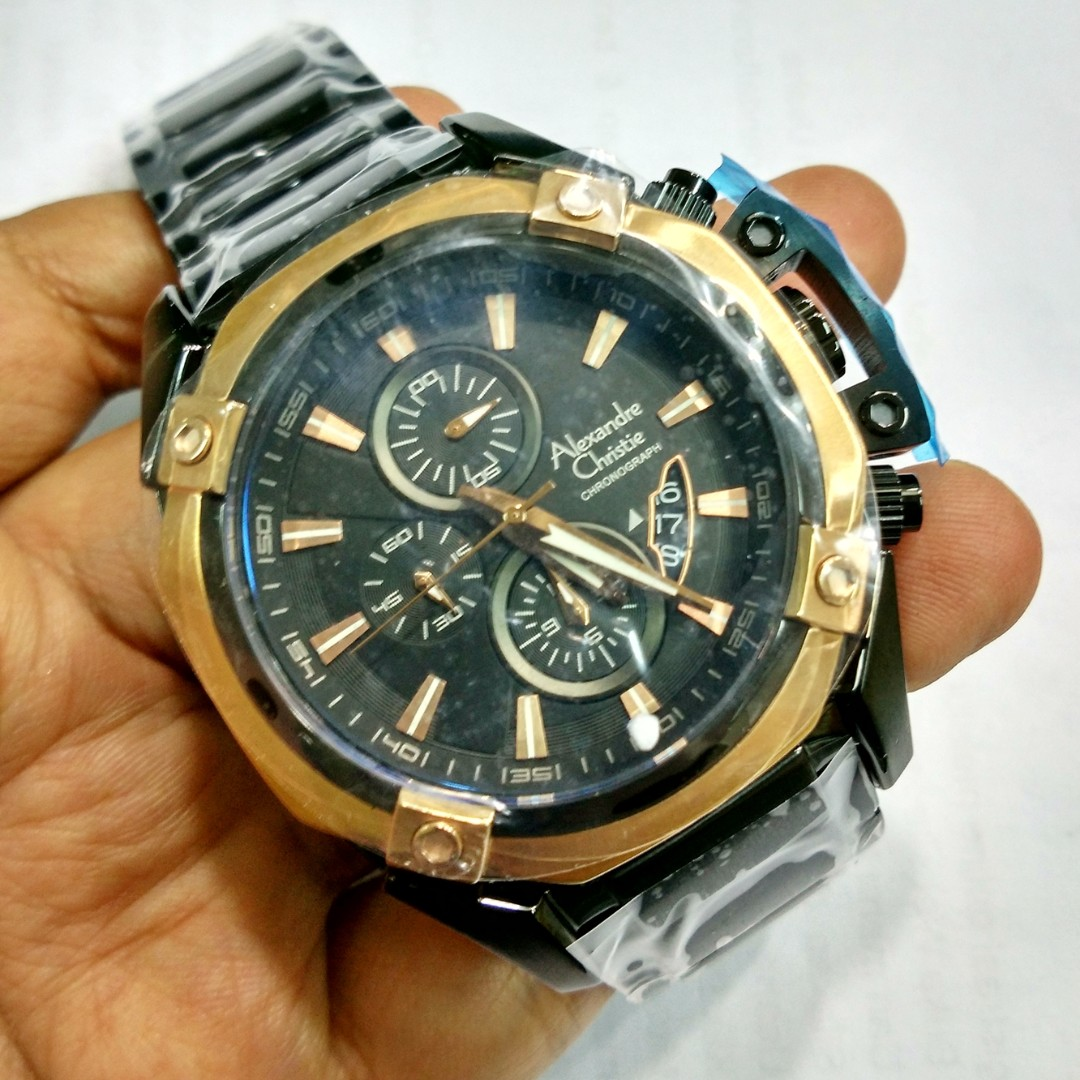Alexandre Cristie Jam Tangan Pria Cronograph Ac 1425 Stenlees Balmer Casual Man D47h670bl7907mslvphb Chronograph Silver Christie 6225 Rosegold Black Steel Original Preloved Fesyen