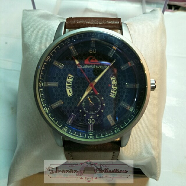 jam tangan pria fashion QUICKSILVER (ada tanggal)