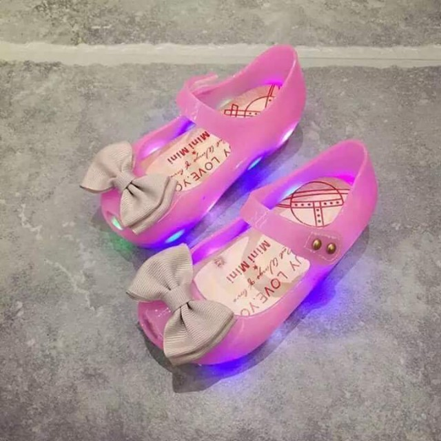 Jelly shoes withlights