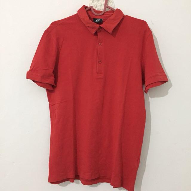 Kaos merah H&M