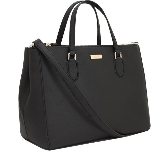 Kate Spade leather tote in NAVY
