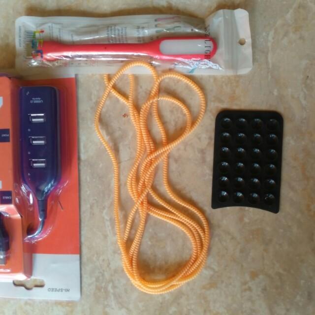LED, Gurita, Kabel Spiral, Kabel USB