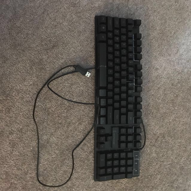 LED light keyboard